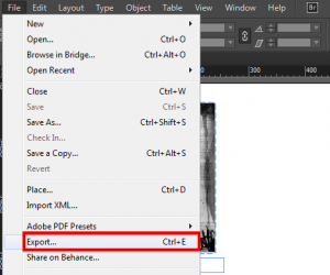Export from InDesign -1